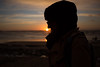 smell the sun.. (paul.wienerroither) Tags: sunset sun silhouette girl ocean oceanlove outdoor water sky view nature photography canon 5dmk3 travel travelphotography dark beautiful portugal baleal winter