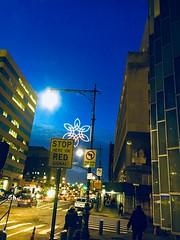Twilight  in The Bronx- NYC (verplanck) Tags: winter sky twilight snowflake thebronx