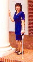 DianeTD_E Polio Lady - Canadian Crutches (jackcast2015) Tags: handicapped disabledwoman crippledwoman paralysed poliogirl legbraces calipers polio poliowoman crutches infantileparalysis wheelchair