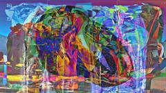 Zwiegespraech 01e abstrakt skulptural (wos---art) Tags: bildschichten zwiegespräche dialog kommunikation auseinandersetzung beziehung gespräch unterhaltung gott god begegnung meeting