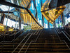 Arts Centre, Melbourne (petebond_au) Tags: olympus1240mm28pro em5ii olympus australia culture mirrors glass yellow blue reflections stairs dreamlover musicals theatre arts melbourne artscentre