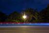 Klingle Valley Bridge (Beau Finley) Tags: beaufinley clevelandpark dc districtofcolumbia washington lighttrail connecticutavenue connecticutave car connave nwdc bridge lamp lightpost klinglevalley avenue road street sky tree trees