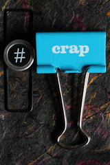 hashtag Crap (ShellyS) Tags: fasteners paperclips macros paperclamps