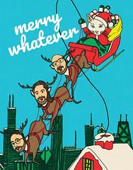 X-Holiday 2017 (mugwumpian) Tags: ipad sketchbookproipad illustration drawing xmas holiday card chicago santa reindeer snow
