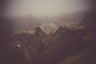 Foggintor Quarry in Mist