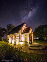 **Milky Way Chapel** (damian.mccudden1) Tags: landscapes nature fineart astrophotography nightscape milkyway australia qld sunshinecoast stars space night lights chapel flowers galaxy galacticcentre damianmccuddenphotography amazing canon samyang longexposure stone doors trees grass