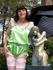 #MeToo (Paula Satijn) Tags: sexy hot sensual girl gurl tgirl satin silk silky shiny green teddy playsuit white lace tranny transvestite tv sissy cute sweet adorable garden statue sculpture bronze smile happy joy girly feminine lingerie