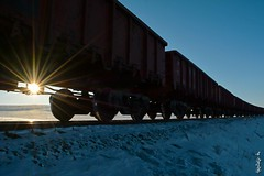 Early morning... (N.Batkhurel) Tags: gondola sun sunrise season winter railway railfan train trainspotting ngc nikon nikond5200 ubtz mongolia