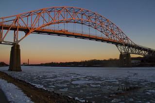 Winter Sun on the Sagamore Bridge