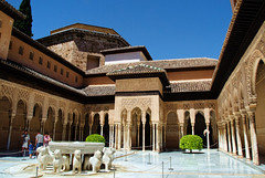 The Alhambra Court of the Lions, Grenada Spain (Gail K E) Tags: courtofthelions spain granada alhambra españa medieval palace fortress moorish andalusia