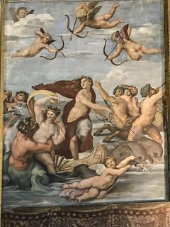 Roma : Loggia di Galatea - Trionfo di Galatea di Raffaello  ( 1513-14 ) Villa Farnesina