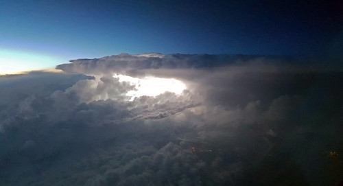 Thunderstorm inflight