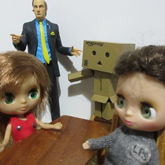 Scar is interrogated by DS Latte and Sgt Danbo (jefalump) Tags: lps blythe littlestpetshop ridesandsurprises dancinggroot funkopop marvel babygroot iamgroot danbo danboard bettercallsaul breakingbad mezco saulgoodman takara petiteblythe roxybaby deadpool nendoroid alien kubrick medicom thegreatescape sonnyangel