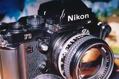 My F3 is named Sylvia. (Jetcraftsofa) Tags: nikonf4 vivitar5528macro sb24speedlight ektar100 35mm slr filmphotography flashphotography offcameraflash nikonf3 cameralove gearphoto inmybag
