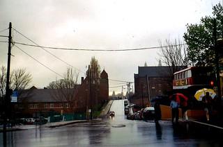 Rainy day, Asheville, North Carolina.  April 2005.