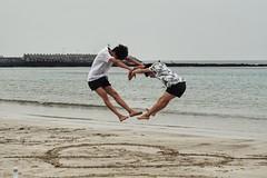 heart-shaped (raisalachoque) Tags: sony sea heart two jump heartshaped smileonsaturday beach