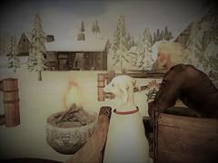 A man and his dog (--Gustaf af Ansgarsö--) Tags: dog viking firepit