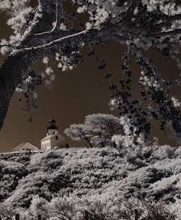 The Old Point Loma Lighthouse in Infrared
