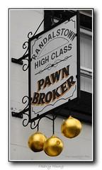 Heavy Hung (Oul Gundog) Tags: heavy hung golden balls pawn broker randalstown co antrim northern ireland ulster uk street money loan debt