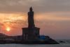 Kanyakumari (Velachery Balu) Tags: kanyakumari sunrise vivekanandarockmemorial thiruvalluvar thiruvalluvarstatue clouds dawn colourful sky blue orange