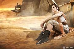 """Dreaming of a Better Place"" (PatLoika) Tags: rey starwars starwarscosplay theforceawakens jakku"