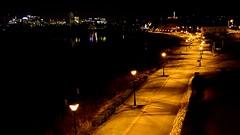 Night Time on the James River (pjpink) Tags: night evening jamesriver jamesriverpark rockettslanding cityscape reflection rva richmond virginia february 2018 winter pjpink 2catswithcameras