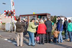 Photo of Burry Port Bus Shelter Renovation Ceremony