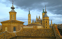 11 torres de 3 iglesias, Zaragoza (eustoquio.molina) Tags: torre iglesia el pilar seo san juan panetes torreón zuda zaragoza