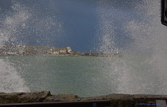 3KB00695a_C (Kernowfile) Tags: cornwall stives sea waves water spray westcottsquay