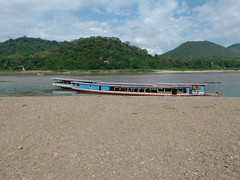 Longboat - Our transportation on the Mekong (Toats Master) Tags: laos mekongriver river boat longboat water landscape