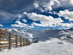 High fence (AngharadW) Tags: peaks run aalps sky clouds snow angharadw fencefriday friday fence