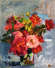 Bouquet of Red and Pink Impressionistic Roses (http://annafineart.net/) Tags: oilpainting expressionism contemporary modernart gallery original floral flowers artwork still life flower artstudio media bouquet pink oilmedia impressionist art arts painter dailypainter artist oil painting paintings fineart finearts textura impasto white expressionist artforsale professional thick paint paints annafineart annafineartstudio bunch rose roses red
