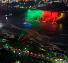Niagara Falls at night (Joseph luong) Tags: niagarafalls 55mmlens sonya7 sel55f18z americanfalls bridleveilfalls water falls bridalveilfalls ontario cans2s sonnar5518za sonyalphadslr