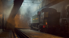 Didcot-Night-17-32 (Dreaming of Steam) Tags: 262t 4144 5101class didcot didcotrailwaycentre gwr greatwestern greatwesternrailway heritage heritagerailways industrial largeprairie railway steam steamengine train vintage engine engineshed locomotive railroad smoke steamlocomotive