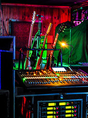 sound_guitar (gerhil) Tags: music live performance stage gear equipment soundboard guitars preshow graphic artistic mood color light geometry pattern nikcolorefexpro4