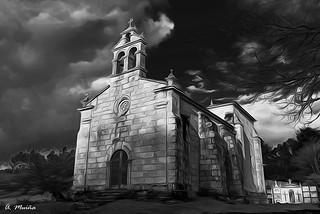 Church in Black and White. Iglesia en Blanco y Negro