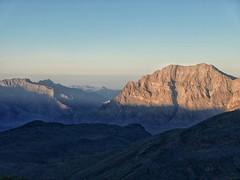 Last light over the Hajar Mountains.