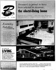 SMUD Electri-Living Home (Dreyfuss + Blackford Architecture) Tags: dreyfuss blackford architects architecture smud sacramento municipal utility district electriliving home living for young homemakers publication residential 1957 breuners binet construction design carmichael california model future