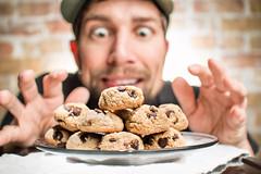Cookie Culprit 29/365 (stevemolder) Tags: cookie culprit 365 project challenge focus dessert treat chocolate chip strobist speedlite off camera flash self portrait funny snack busted