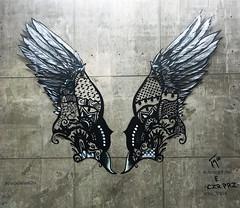 Wing Archetype by Jenny Vyas & Czr Prz (wiredforlego) Tags: graffiti mural streetart urbanart aerosolart chicago illinois ord czrprz jennyvyas