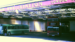 Slide 113-66 (Steve Guess) Tags: surrey england gb uk bus dday leyland national lcsw london country snb kingston south west station clarencestreet kingstonuponthames greater