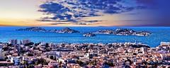 Marseille, le Frioul et le château d'If (thierrybalint) Tags: ilot chateaudif frioul méditerranée marseille horizon island ile water sky sea city panorama rade nikoniste