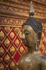 Buddha Statue at Wat Phra That Doi Suthep, Chiang Mai, Thailand (jonasfj) Tags: buddha buddhism statue worship watphrathatdoisuthep chiangmai thailand asia southeastasia religion religious elephant nikond750 35mm nikkor 3514g bronze red gold