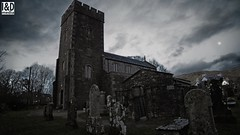 Kilmartin Parish Church by moon light