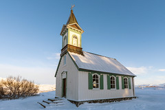 Church in Iceland (George Pachantouris) Tags: iceland north arctic cold winter snow white ice frozen freeze church þingvellir thingvellir nordics