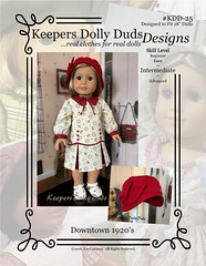 "KeepersDollyDuds Pattern KDD25-""Downtown 1920's"" (Keepersdollyduds) Tags: pattern keepersdollyduds keepers 18dolls pdf downloadable etsy sewing dollclothes dress cloche"