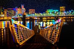 Downtown Is glowing tonight.. (sayanomi) Tags: pacificnorthwest portland colors nightlandscape landscapephotography downtownportland pnw portlandphotographer getmeoutside northwest oregon traveloregon