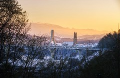 Fribourg / Ref.06179 (FRIBOURG REGION) Tags: suisse schweiz switzerland fribourg fribourgrégion fribourgregion freiburg stadt city pontdelapoya poyabridge poyabrücke cathedral cathédrale kathedrale neige snow schnee