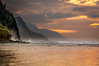 Na Pali cliffs sunset (bfluegie) Tags: hawaii kauai keebeach beach ocean sunset water d90 nikond90
