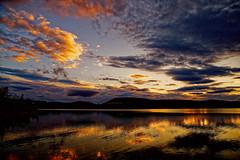 Last light on Lintrathen Loch. (alan.irons) Tags: landscape skyscape water sunset light clouds colour scottishwater reservoir loch lintrathen angus scotland ecosse 5dmk3 canon calm tranquil halcyon atomspheric reflections shimmering shimmer mountains glow scenery serene idyllic cloudsstormssunsetssunrises ngc